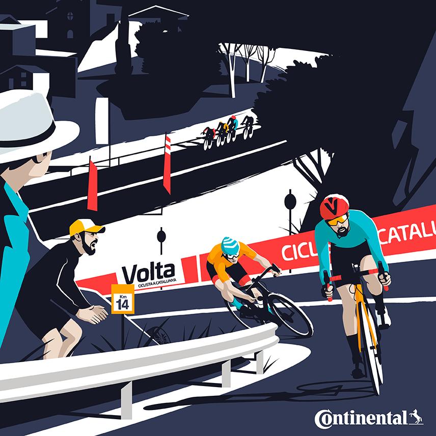 Illustration of Volta Ciclista Catalana / Continental - El Chico Llama