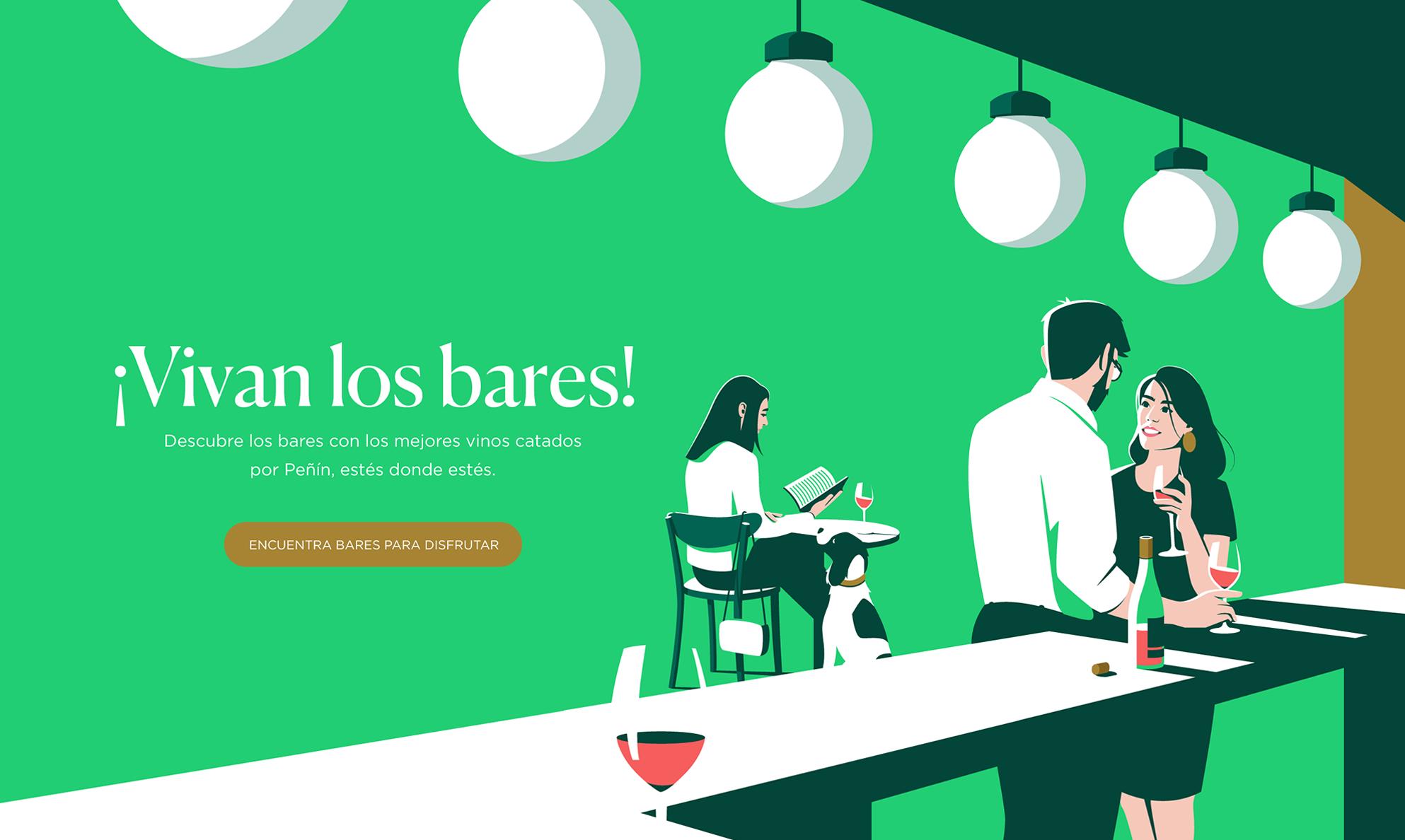 Ilustración de Vivan los bares / Guía Peñín - El Chico Llama