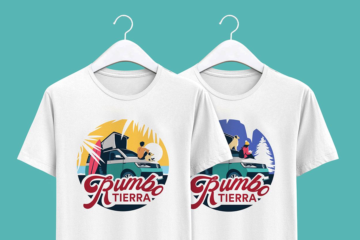Rumbo Tierra Camisetas - El Chico Llama